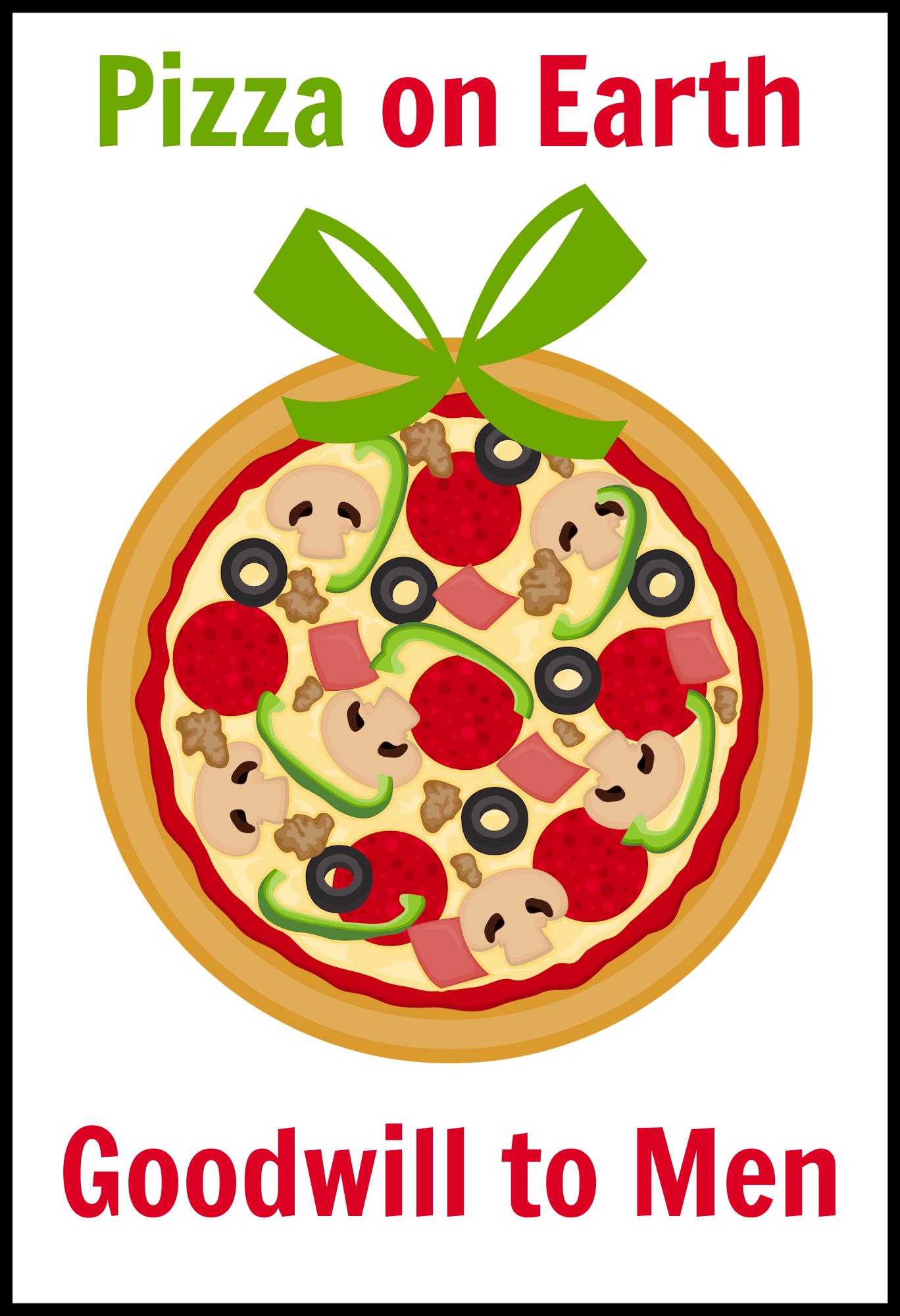Pizza Neighbor Gift Tag