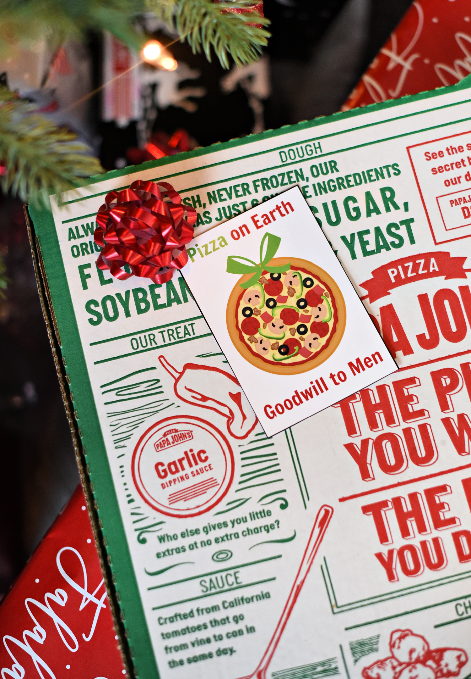Pizza on Earth, Good Will to Men Holiday Gift Idea
